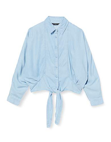 Guess Damen Betty Pin Up Shirt Hemd, Azzurro, M