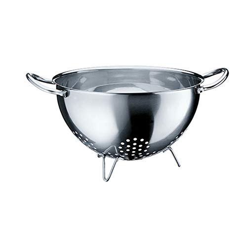 WMF Gourmet Sieb Edelstahl 24 cm, Seiher mit Standfüßen, Nudelsieb, Küchensieb, Cromargan Edelstahl, spülmaschinengeeignet