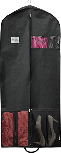 Simple Houseware 60-Inch Heavy Duty Garment Bag w/Pocket for Suits, Tuxedos, Dresses, Coats