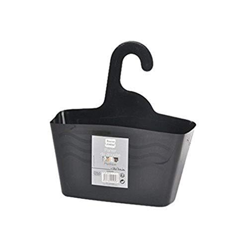 Douceur d'Intérieur 6ASB229NR Panier de Douche à Suspendre Plastique Noir 24 x 9,5 x 25,60 cm