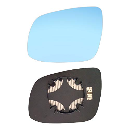 AM-KACD10-LCBH - Espejo retrovisor izquierdo con placa y calefacción, color azul