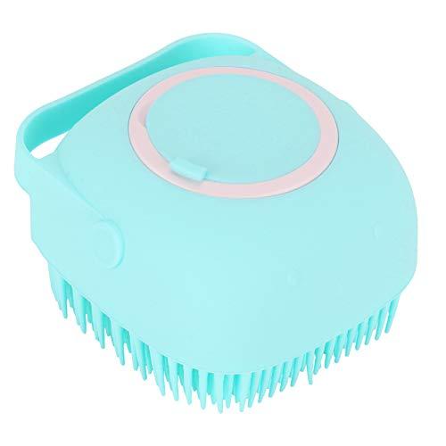 Cepillo de Silicona para baño Masaje Suave Toallita para el Cuidado Peine multifunción Cepillo para Masaje del Cuero cabelludo para la Ducha Lavado de Cabello Recipiente de 80 ml (Menta Verde)
