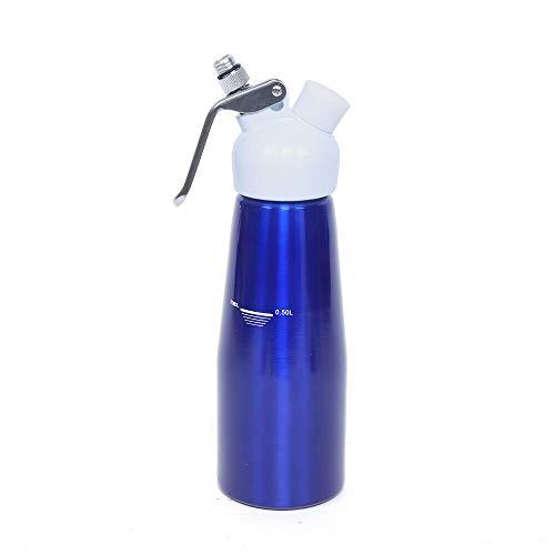Kaibrite Sahnespender, 500ml Schlagsahnebereiter, 3 Edelstahl Spritztüllen und Reinigungsbürste, für Schlagsahne, Cremes und Soßen (Blau)