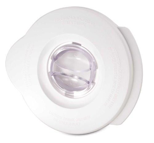 Oster BLSTAL-W00-050 Runder Deckel für Oster-Standmixer, mit Öffnung zum Nachfüllen und rundem Stopfen, Weiß
