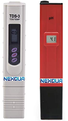 Nexqua Dew Manual Caliberation pH Meter to Test pH quality and TDS Meter to Check Ppm/TDS for Drinking Water Set combo