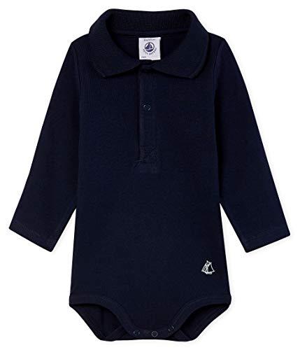 Petit Bateau Baby-Jungen ML COLPOLO_5018303 Formender Body, Blau (Smoking 03), 86 (Herstellergröße: 18M/81cm)