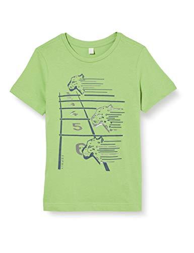 ESPRIT KIDS Jungen RQ1035403 SS T-Shirt, Grün (Pastel Green 522), (Herstellergröße: 128+)