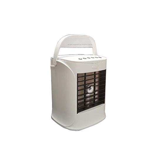 Jcnfa Bluetooth Air Cooler Humidifi , Battery Operated Personal Air Conditioner For Room Office Table Outdoor- 500mLml Water Tank (Color : White, Size : 16 * 14.4 * 20.6CM)