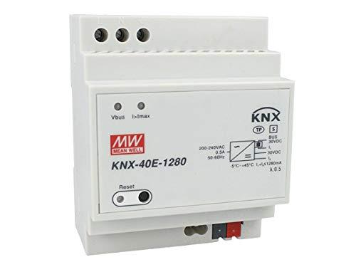 MeanWell KNX-40E-1280 Alimentatore KNX Konnex 30V 1280 mA 38,4W Per Guida DIN Binario