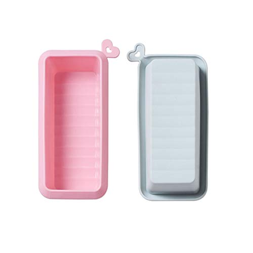 Aitaolian Toolsfoodsmall 2 Pack Silicone Cakes Mold for Kitchen Homemade Dessert Bread Cake Chocolate Pink, Blue