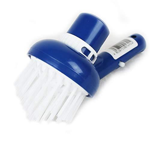 Linxor France ® Tête de brosse d'angles aspirante bleu pour manche standard ou télescopique - Norme CE