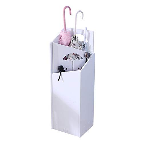 Regenschirmständer modern Regenschirmständer Schirmständer Holz, Schirmständer Rechteckig, (weiß) Möbel Schirmständer (Color : A)