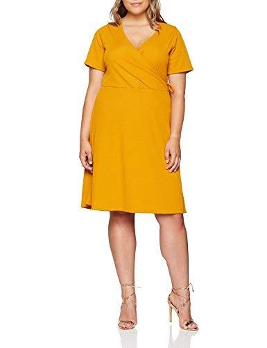 Vestido amarillo ancho para mujer