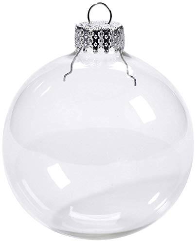 Darice Heavy Glass Ornament Balls W/Gold Filigree 70mm 6/Pkg-Clear