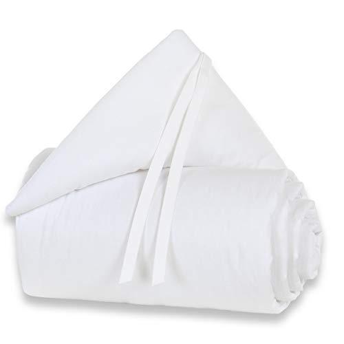 Tour de lit babybay en coton organique convient pour le modèle Original, blanc