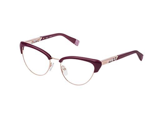 Furla Brille für Vista VFU305 0U17 rot rahmenmaterial: metall größe 55 mm brille für damen