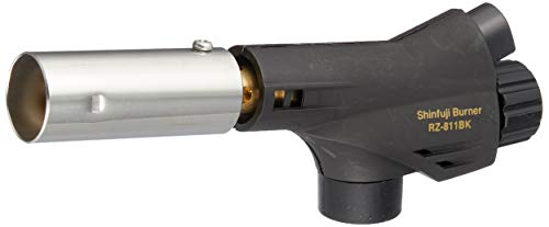 【Amazon.co.jp 限定】新富士バーナー パワートーチ ガスバーナー 日本製 炙り調理 溶接 火力調節 火口径:22mm 小型 ブラック RZ-811BK