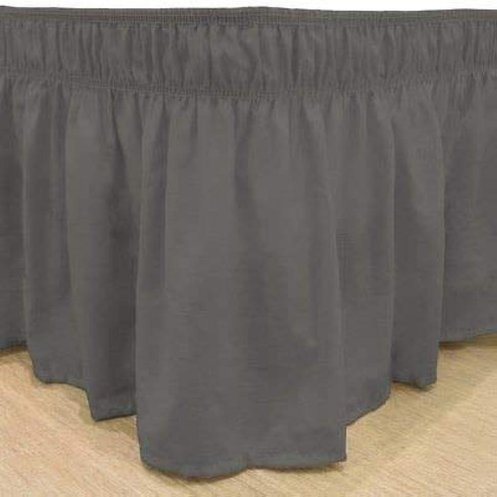 ディベート海洋ベットwhasmos Decor Wrap Aroundスタイル簡単フィット、伸縮性ダスト用フリル付きbed-skirt 3つの側カバーにベッド King/Cal-king (Up to 10
