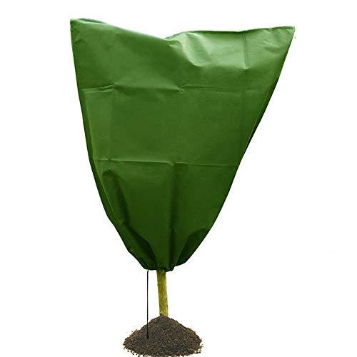 ZKDY Hiver Cordon Plant Sapling Gel Froid Protection Couvercle Sac Léger Durable Non Tissé-100X110Cm_Vert