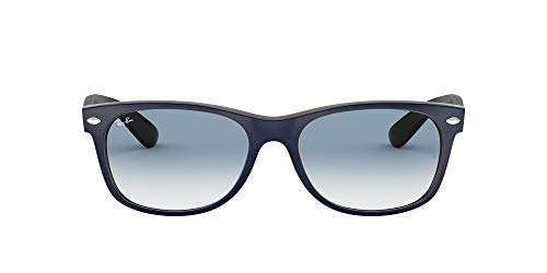 Ray-Ban Herren 2132 Sonnenbrille, Blau (Azul Mate/Marrón), 52