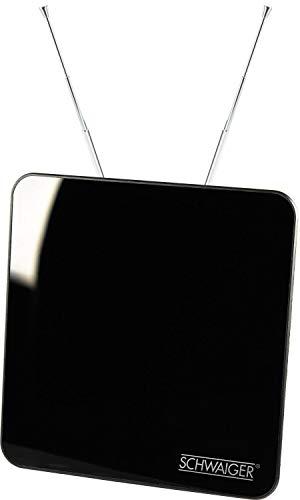 Schwaiger ZA8970 011 Aktiv DVBT-Zimmerantenne mit Klavierlack Optik (45 dB) schwaz
