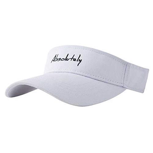 MAGREAT Damen Tennis-Visiere, einfarbig, UV-Schutz, verstellbare lange Krempe, Sport, Tennis, Golf, Strand, Hüte für Herren Gr. Einheitsgröße, weiß