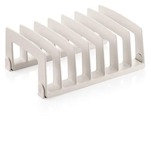 Tescoma 899484 FlexiSPACE Porta Coperchi, Bianco