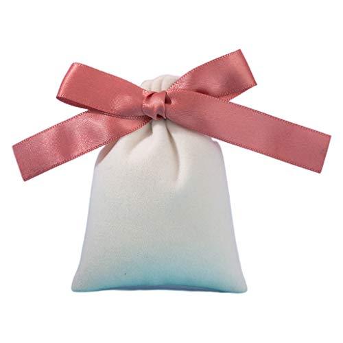 Gulang-keng Velet - Organizador para joyas, 50 bolsas de terciopelo de 7 x 9 cm con cinta, bolsas de franela para bodas, caramelos, regalos, decoración de Navidad