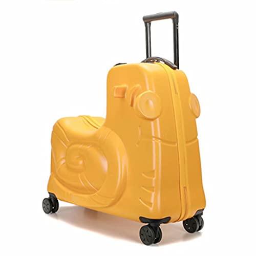 Maleta para niños de 24 Pulgadas 63X61X30 cm Cerradura de combinación de ABS rígido 3,1 kg Equipaje de Mano con 4 Ruedas