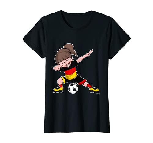 Fußball Deutschland Trikot Mädchen Flagge Germany T-Shirt