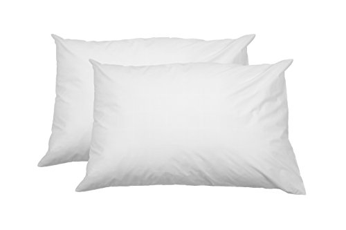 AmazonBasics Kissenbezug mit Reißverschluss, 100 % weiche Baumwolle, 50 x 80 cm, 2 Stück