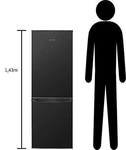 Bomann KG 320.1 Kühl-Gefrier-Kombination (Gefrierteil unten) / A++ / 143 cm / 160 kWh/Jahr / 122 L Kühlteil / 43 Gefrierteil / 165 L