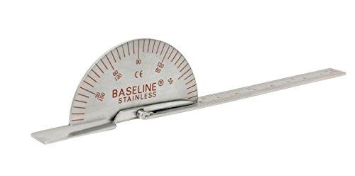 "Baseline 12-1015 Finger Goniometer, Metal, Small, 3.5"""