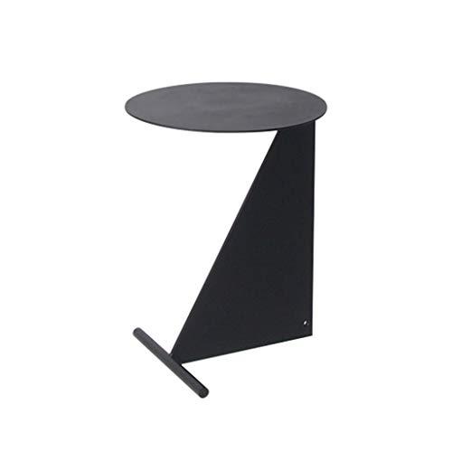 Table De Chevet Rond Table Basse Noire Simple Salon De Coin en Métal Table De Coin Chambre À Coucher De La Table D'appoint Intérieur Petite Table Basse Rangement pour la Cuisine