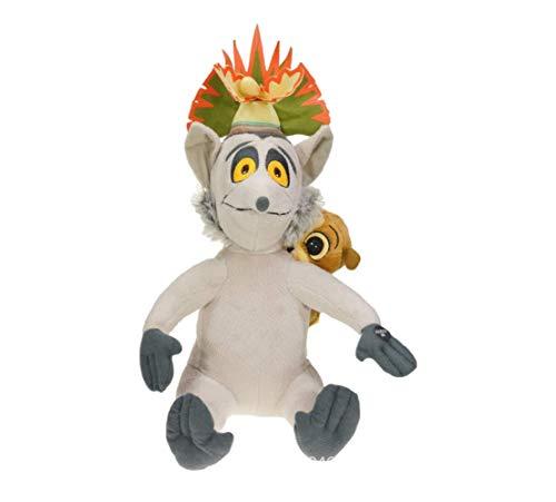LYH2019 Madagaskar König Julian und Mort Plüschtier lustige narzisstische Lemur Ringtail König ausgestopfte Puppe Spielzeug Kinder Geburtstagsgeschenk 30 cm