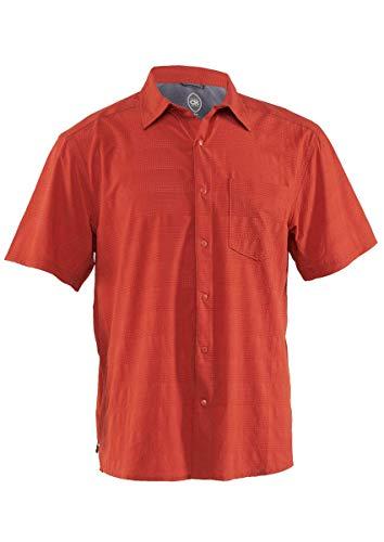 Club Ride Apparel Motive Biking Shirt - Men's Short Sleeve Cycling Jersey - Burnt Ochre - Small