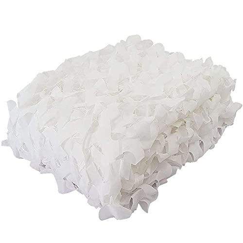 Filet de Camouflage Blanc en Maille,Camouflage Net Militaire Renforce,Pare-Soleil,Voile D'ombrage de 210D oxford Polyester,Toile D'ombrage pour Jardin,Patio,Extérieure,Customize(3x4m/9.8x13ft)