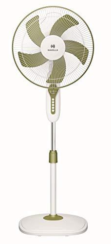Havells Pentaforce 400 mm Pedestal Fan (White-Green)