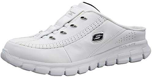 Skechers Sport Women's Elite Glam Synergy White/Navy, Slip-On Sneaker 7.5 M US