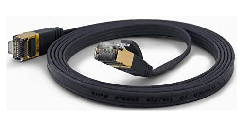wantecWire 7085 Extradünne Patchkabel mit TOP Qualität schwarz