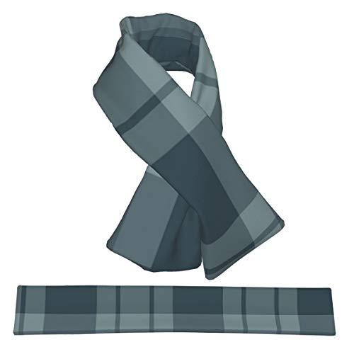 Kreuzschal, groß, blau, gestreift, kariert, Flanell, doppelseitig, weich, leicht, für Damen, Herren und Jugendliche