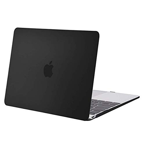 MOSISO Plastic Hard Shell Case Cover Compatible with MacBook 12 Inch with Retina Display (Model A1534, Release 2017 2016 2015), Black