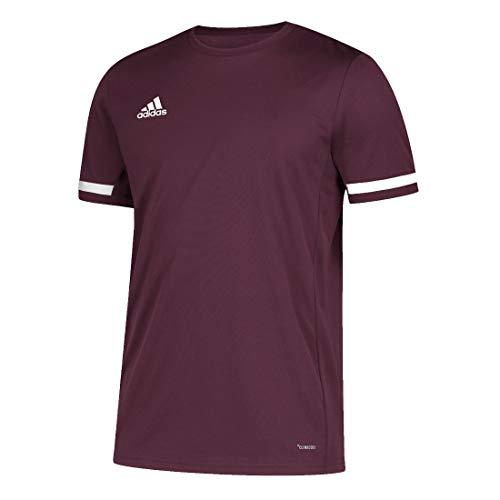 adidas T19 Teamwear - Camiseta deportiva para hombre, talla S, color granate