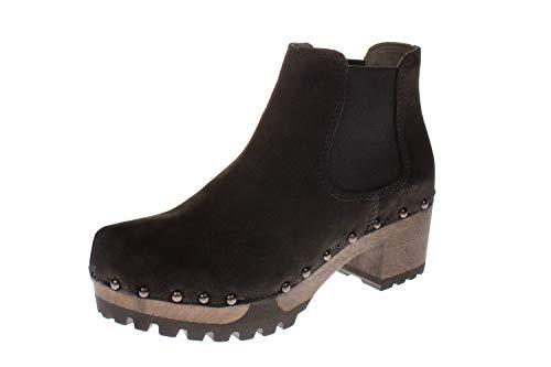Softclox S3358 Isabelle Nubuk - Damen Schuhe Stiefel - 27-schwarz, Größe:38 EU