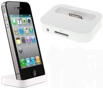 itronik® Dockingstation Ladestation Dock Docking mit Line-Out Weiss White für Apple iPhone 4 4S - Station passt auch für iPhone mit Bumper