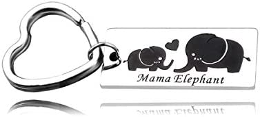 RUNXINTD Sweet Family Mama Bear Bracelet Stainless Steel Mama Elephant Key Rings Gift for Mother product image
