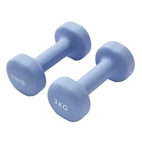 Mancuernas Conjunto Principiantes para Mujer Rosa 2 Kg, Azul 4 Kg, Morado 6 Kg, Tres Opciones Equipo De Fitness para Yoga Aprieta Los Músculos, Esculpe Las Líneas