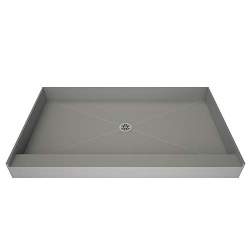 Tile Redi USA 3460C-PVC Base Shower Pan, 60' W x 34' D,...