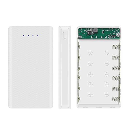 DIY 6x18650 batería caso con indicador Banco de energía Shell portátil caja externa sin batería powerbank protector mainboard x570
