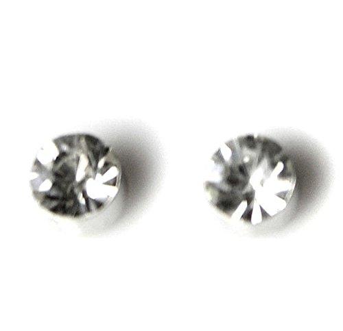 Orecchini con clip magnetiche con cristalli, unisex, dimensione 8 mm